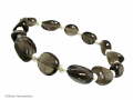 Brown Smokey Quartz Nuggets & Ivory Cream Swarovski Pearls Bracelet | Silver Sensations